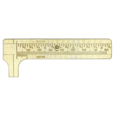 80mm Metal Double Scale Brass Gauge Vernier Caliper Ruler Pocket Measuring Tool
