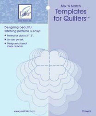 June Tailor Mix 'n Match Flower Templates For Quilters 6/Pkg