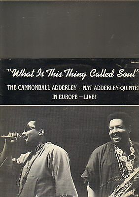 THE CANNONBALL ADDERLEY / NAT ADDERLEY QUINTET - what is this.... LP