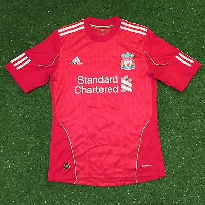 Liverpool Football Club 2010-2012 Home Jersey Shirt Adidas Soccer Small