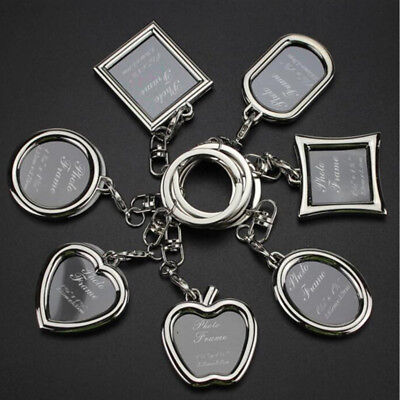 Photo Key Ring Personalized Couple Picture Frame Key Holder Love Key Chain