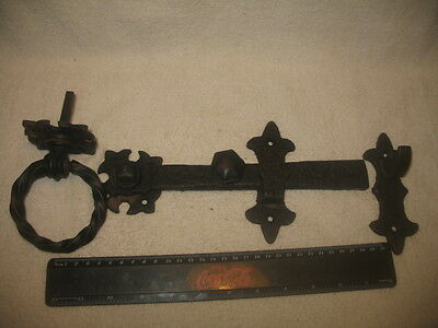 Vintage Gate Lock Latch Old Antique Looks Hand Forged Decorator Item Collectible