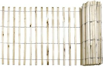 Snow Fence Natural Wood 1/4 x 4 x 50 Wooden Slats Protect Sand Dunes Reusable