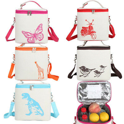 Fully Insulated Picnic Lunch Bag Camping Waterproof Storage Bag Carry Storage