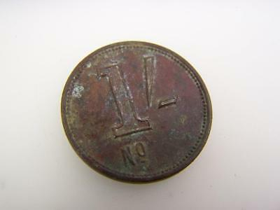 Token coin 1/- One shilling                                               2475