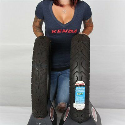100/90 18, 130/90H 18 Kenda K657 Challenger Front & Rear Tire Kit - 2 Tires
