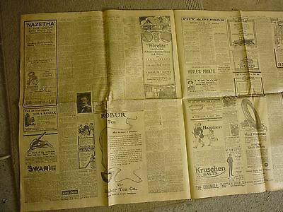 Four Pages of 1919 Advertiser Newspapers