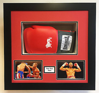 Boxing Glove Display Frame for Signed Boxing Gloves with choice of frame colours