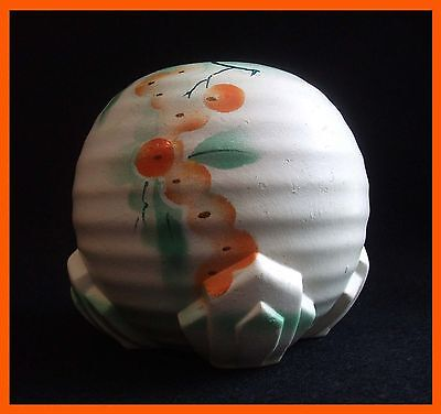 RARE Vintage BRENTLEIGH pottery ART DECO vase PAINTED 30s 40s retro England