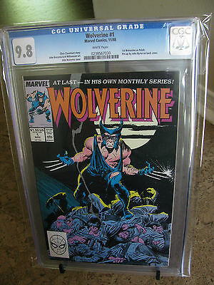 WOLVERINE #1 CGC 9.8 1st Wolverine as PATCH , WHITE Pages 1988 Marvel Comics