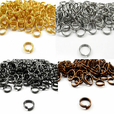 lot 200-450Pcs Open Double Split Jump Rings Connectors Findings DIY 4-12mm j-c