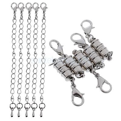 10pcs Magnetic Clasps and Chain Lobster DIY Craft Findings Necklace Bracelet