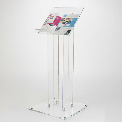Floor Standing Book Stand | Menu Stand | Clear Acrylic Lectern | Acrylic Podium