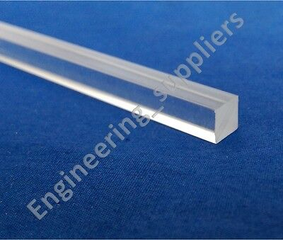 10 mm Square Plastic Rod Clear Acrylic Various Lengths 20mm upto 600mm long