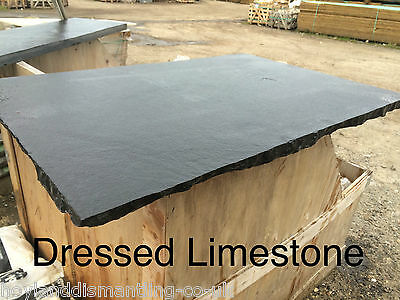 Decorative Natural Black Limestone Hearth COLLECTION ONLY