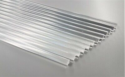 5mm Acrylic Plastic Round Rod Bar Clear Various Lengths 50mm up to 600mm long