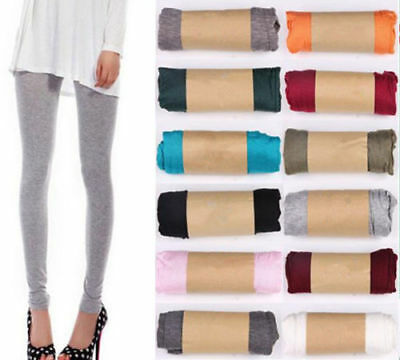 AU Women Stretch Cotton Leggings Soft Casual Stocking Pantyhouse Tight Pants