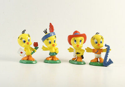 Looney Tunes Bugs Bunny === 4 x Figuren Tweety Bully 1983