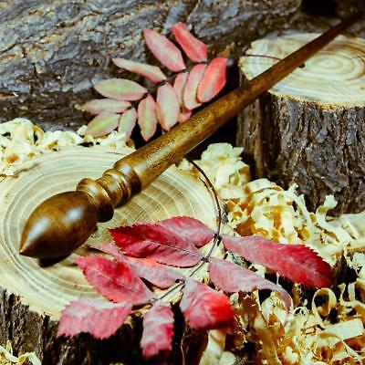 BIG SPINDLE FOR SPINNING NATURAL SIBERIAN PINE WOOD for NEEDLEWORK SPINNING #B18