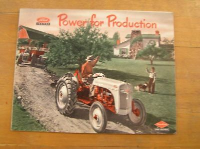 1951 FORD Dearborn Motor Power for Production Tractor Brochure FARM FARMING VTG