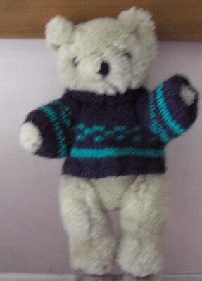 Knitting Pattern For Baby Oleg : Teddy Bears Clothes. New hand knitted blue cupcake jumper to suit a 10