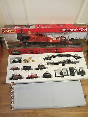 Hornby Midland Star 00 Gauge R1137 Track Train Set Good Condition Bits Missing