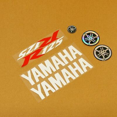 Replacement white red white sticker decal kit for yamaha for Yamaha replacement decals