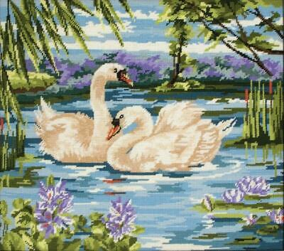Swans - Anchor Tapestry Kit - 40cm x 45cm - MR340 - Wool Gift Canvas