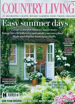 """Country Living GB August 2017 Issue NEU """"easy summer days"""""""