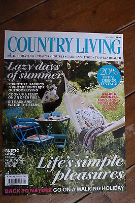 """Country Living GB August 2014 Issue """"lazy days of summer"""""""