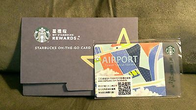 $7-> Starbucks Taiwan NEW AIRPORT Special Edition Gift Card LIMITED! w/Sleeve
