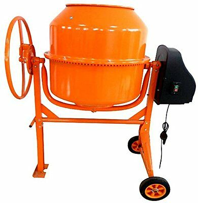 Progen 160L 650W Drum Portable Electric Concrete Cement Mixer Mortar Plaster