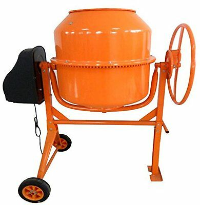 New Progen 160L 650W Drum Portable Electric Concrete Cement Mixer Mortar Plaster