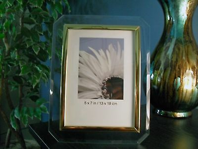 5x7 Glass Photo Frame Beveled Edges Vertical Quality Frame New