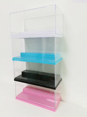 "4 Color Clear Acrylic Stairs Display Box Multi-use Dustproof Case 7.7""Lx3.7""H"