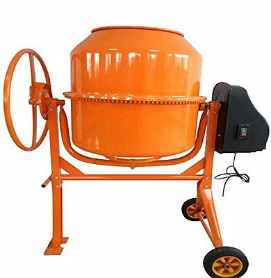 Progen 200L 800W Drum Portable Electric Concrete Cement Mixer Mortar Plaster