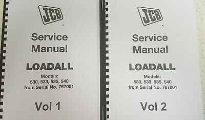 Jcb Loadall 530 533 535 540 Service Manual From S/no 767001 Reprinted Comb Bound