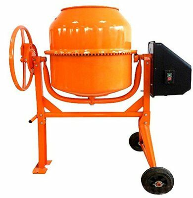 Progen 120L 550W Drum Portable Electric Concrete Cement Mixer Mortar Plaster