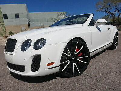 "2012 Bentley Continental GT Supersports Convertible Custom 22"" Forgiato Whls $294k MSRP 15k Miles Rare Car 2011 2013 convertible gtc"
