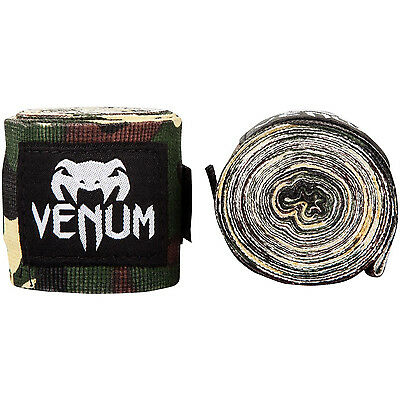 Venum Kontact Boxing Hand Wraps Forest Camo 4M Muay Thai Kickboxing Striking MMA