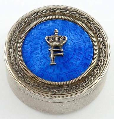 Egypt , King Farouk Silver Snuff Box , Extremely Rare