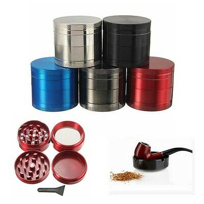4 Layers Metal Tobacco Crusher Hand Muller Smoke Herbal Herb Grinder US