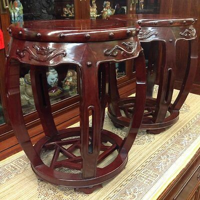 Pair of Rosewood Stools