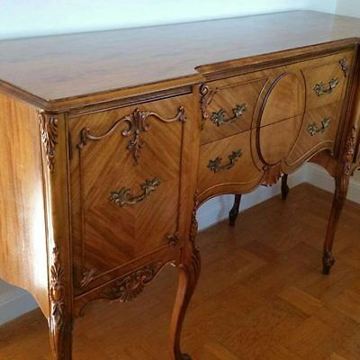 Elegant Vintage Queen Anne Buffet