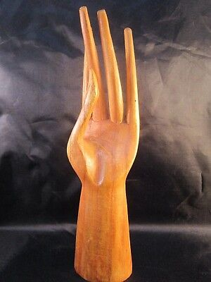 Tropical Wood Hand, Jewelry Display Stand (Left Hand)