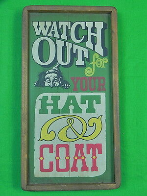 Vintage US Wood Funny Wall Plaque Decor