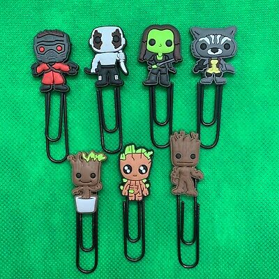 Guardians of the Galaxy Cartoon Paperclip Bookmark Star-Lord Groot Gamora *NEW*