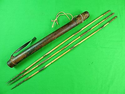 Antique Old Africa African Kongo Congo Quiver & 3 Arrow