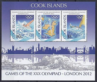 Cook Islands Block 235 (1737 - 1739) **, Olympia 2012 London
