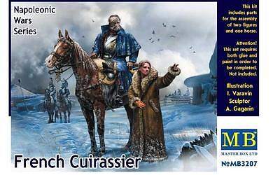 MASTER BOX  1:32  Napoleonic Wars French Mounted Cuirassier & Russian G  MBL3207